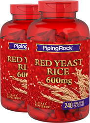 Red Yeast Rice 600 mg, 2 Bottles x 240 Capsules