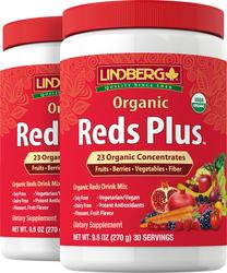 Reds Plus Organic Powder, 9.5 oz (270 g) x 2 Bottles