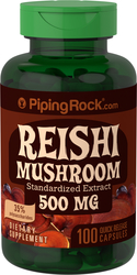 Piping Rock Reishi Mushroom 500 mg Extract 100 Capsules