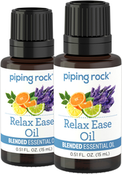 Relax Ease Essential Oil Blend (GC/MS Tested), 2 x 1/2 fl oz (15 mL) Dropper Bottle