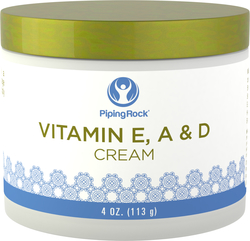Belebende Vitamin-E-, A- u. D-Creme 4 oz (113 g) Glas