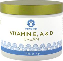 Creme revitalizante de vitamina E, A e D 4 oz (113 g) Boião