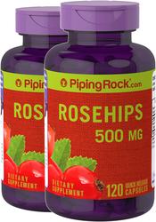 Rose Hips 500 mg 2 Bottles x 120 Capsules