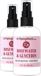 Eau de rose et glycérine 8 fl oz (237 mL) Flacon de vaporisateur
