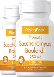 Saccharomyces Boulardii Probiotic 2 Bottles x 60 Capsules