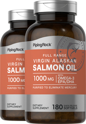 Salmon Oil 1000mg 2 Bottles x 180 Softgels