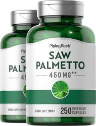 Saw Palmetto 450 mg 2 Bottles x 250 Capsules