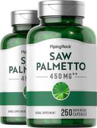 Saw Palmetto 450 mg 2 Bottles x 250 Capsules