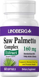 Saw Palmetto Standardized Extract 160 mg, 60 Softgels