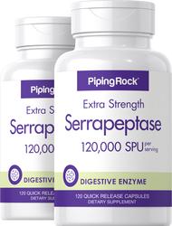 Serrapeptase Supplement 120,000 SU 120 Capsules 2 Bottles