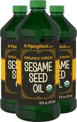 Sesame Oil 16 fl oz (473 mL) 3 Bottles for Skin & Hair