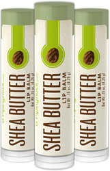 Shea Butter Lip Balm 3 Pack (3 Tubes x 0.15 oz)