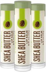 Shea Butter Lip Balm 3 Pack (3 Tubes x 0.15 oz)
