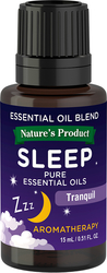 Ätherische Ölmischung für guten Schlaf (GC/MS-getestet) 1/2 fl oz (15 mL) Flasche