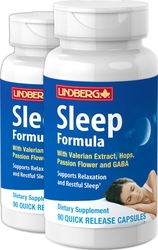 Sleep Formula with Valerian Plus 90 Capsules x 2 Bottles