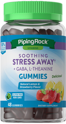 Soothing Stress Away + GABA & L-Theanine (Natural Lemon & Strawberry), 48 Gummies