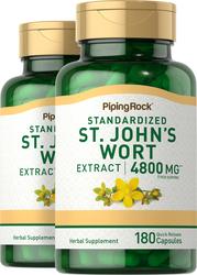 St. John's Wort 0.3% Hypericin 300 mg 2 Bottles x 180 Capsules