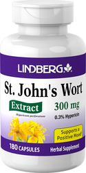 St. John's Wort Standardized Extract, 300 mg, 180 Capsules