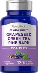 Gestandaardiseerd druivenpit-, groene thee & pijnboomschorscomplex 120 Snel afgevende capsules