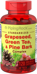 Grapeseed, Green Tea & Pine Bark Complex 120 Capsules