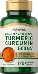 Complesso di curcuma e turmerico standard  120 Capsule a rilascio rapido
