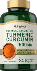 Complesso di curcuma e turmerico standard  240 Capsule a rilascio rapido