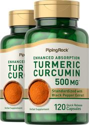 Standardisierter Kurkuma-Curcumin-Komplex  240 Kapseln mit schneller Freisetzung