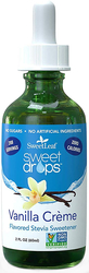 SweetLeaf Liquid Stevia Vanilla Creme 2 fl oz (60 mL) Dropper Bottle