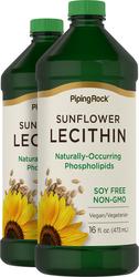 Sunflower Liquid Lecithin 2 Bottles x 16 fl oz (473 mL)