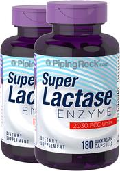 Lactase Enzyme Pills 2030 FCC Units 2 Bottles