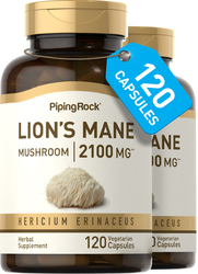 Lion's Mane Mushroom Extract 500mg 2 x 120 Supplement Capsules