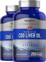 Cod Liver Oil Norwegian  2 Bottles x 250 Softgels