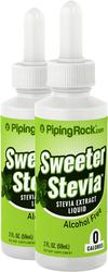 Sweeter Stevia Liquid 2 Dropper Bottles x 2 fl oz (59 ml)