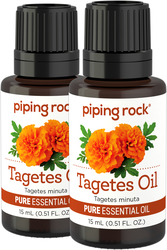 Tagetes Essential Oil 1 oz (30 ml) 100% Pure  Therapeutic Grade (2 Dropper Bottles x 1/2 fl oz)