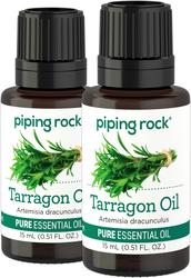 Tarragon 100% Pure Essential Oil 2 Dropper Bottles x 1/2 oz (15 ml)