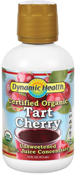 Tart Cherry Juice Concentrate - Organic 16 fl oz (473 mL) Bottle