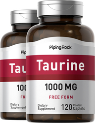 Taurine 1000 mg 2 Bottles x 120 Coated Caplets