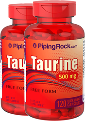 Taurine 500mg 2 Bottles x 120 Capsules