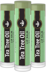 Tea Tree Oil Lip Balm 3 Pack 3 Tubes x 0.15 oz (4 g)