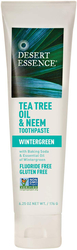 Tea Tree Oil & Neem Toothpaste (Wintergreen),6.25 oz