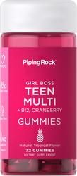Caramelle gommose multivitaminiche + B12 per adolescenti (naturale tropicale) 72 Caramelle gommose