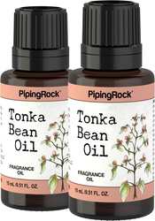 Tonka Bean Fragrance Oil 2 Dropper Bottles x 1/2 oz (15 ml)