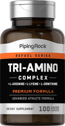 Tri-amino L-arginina L-ornitina L-lisina 100 Comprimidos oblongos revestidos