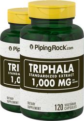 Triphala 1000mg 2 Bottles x 120 Capsules