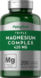 Complexe de magnésium Triple 200 Gélules à libération rapide