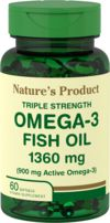 Triple Strength Omega-3 Fish Oil 1360 mg (900 mg Active Omega-3)
