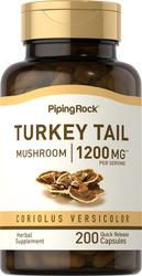 Turkey Tail Mushroom, 1200 mg (per serving), 200 Quick Release Capsules