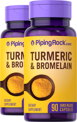 Turmeric & Bromelain, 90 Capsules x 2 Bottles