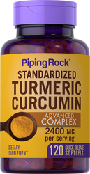 Complexe avancé à la curcumine de curcuma  120 Capsules molles à libération rapide