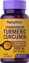 Complesso avanzato di estratto standardizzato di curcumina 120 Capsule in gelatina molle a rilascio rapido